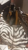 Then Caffery showed us the zebra print bag and shoe - we were sold.